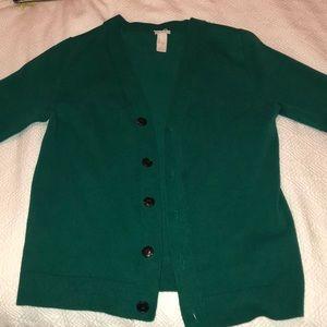 Green Vintage Style Cardigan H&M